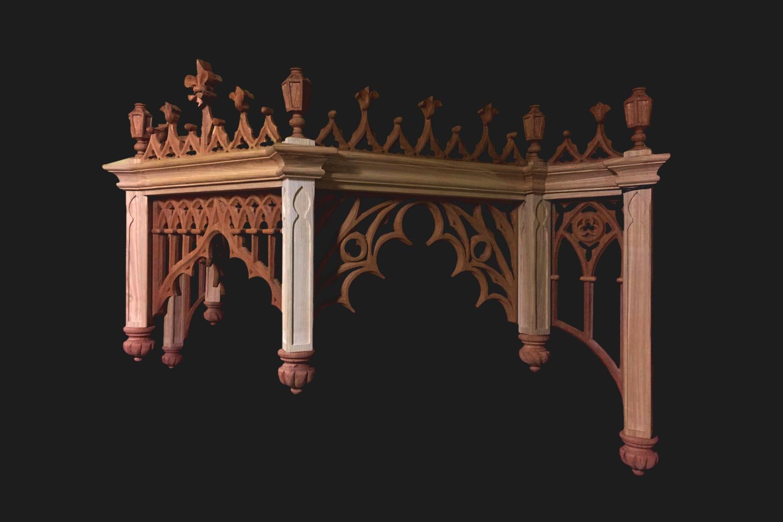 <span>Pasos - Carpintería, Pasos - Talla</span>Dosel Virgen de la Antigua – Hinojosa del Duque